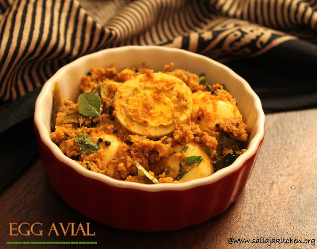 images of  Egg Avial / Mutta Thoran / Egg in Thick Coconut Paste