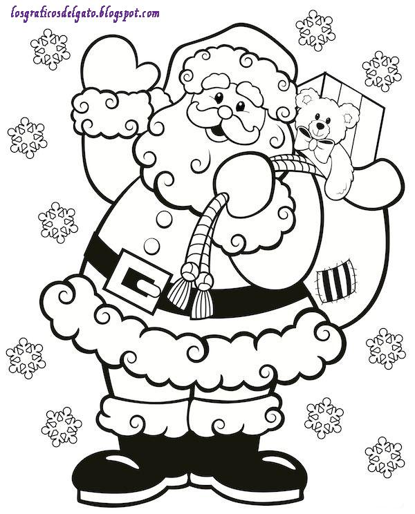 Dibujos De Navidad Muy Bonitos.Los Graficos Del Gato Dibujos De Navidad