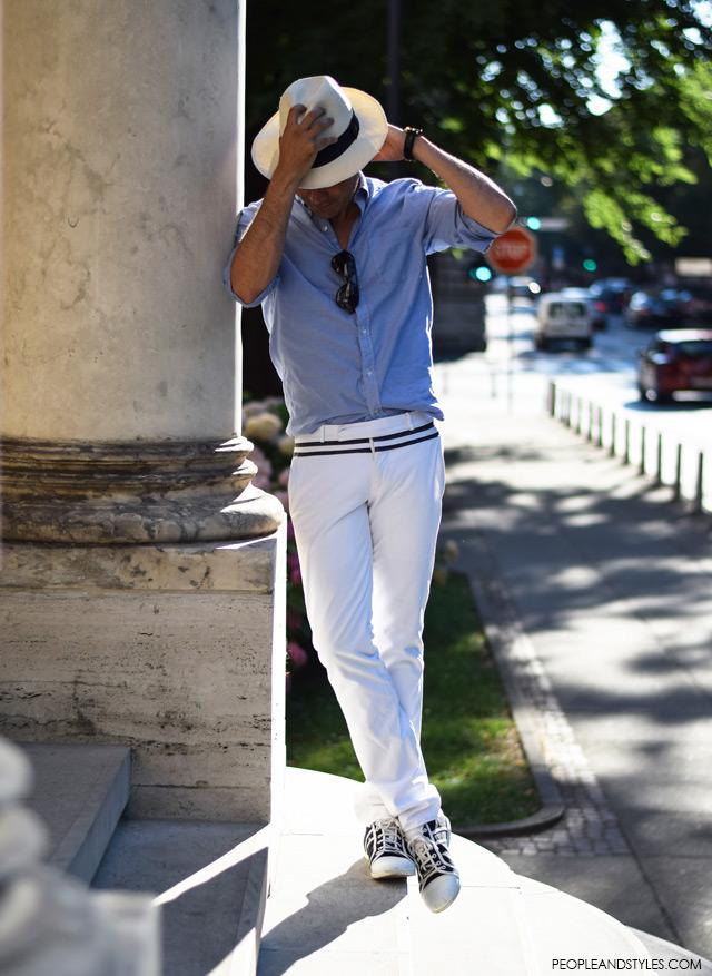 Ante Vrban, arhitektura, moda, dizajn, muška moda, street style. How to wear white pants and Panama hat for guys, men all white outfit casual