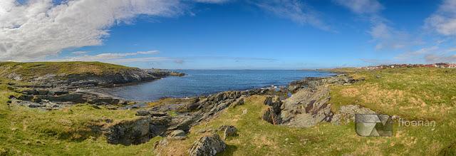 Co warto zobaczyć w Haugesund - Panorama Haugesund i morze Północne
