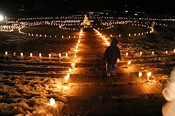 ice Candle Festival at Nobeyama Hightland, Nagano Pref.