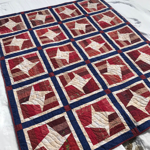 Quilts of Valor Quilt by Thistle Thicket Studio. www.thistlethicketstudio.com