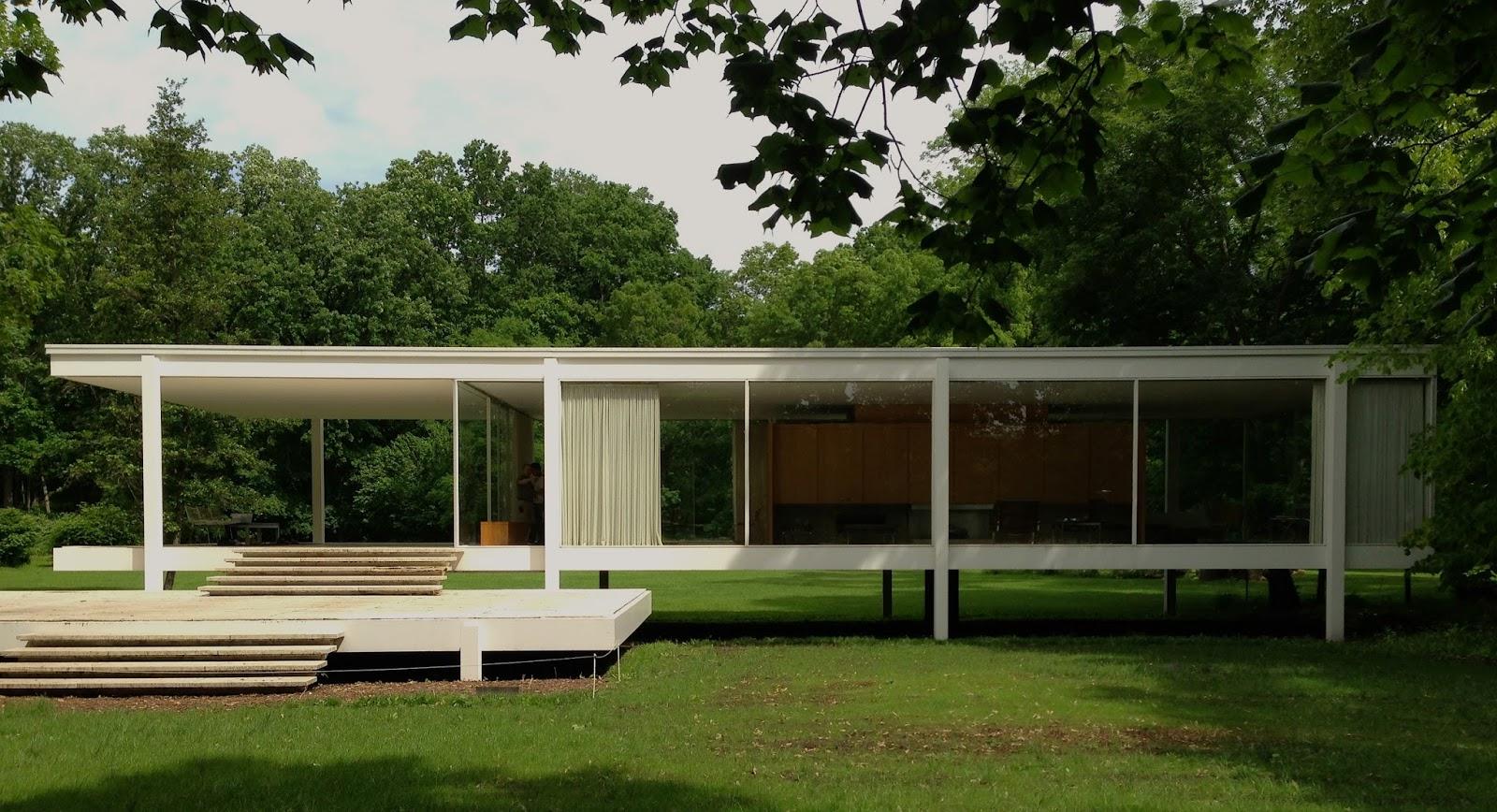 Casa farnsworth 1950 mies van der rohe for Casa minimalista de mies van der rohe