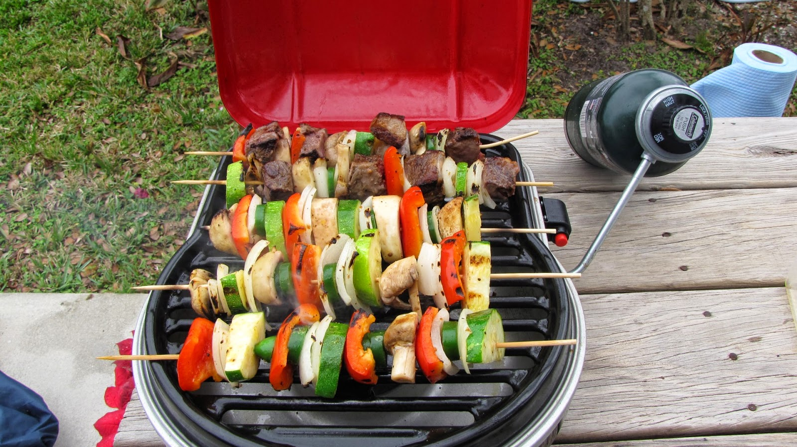 Grilling Vegetable Shish Kebabs