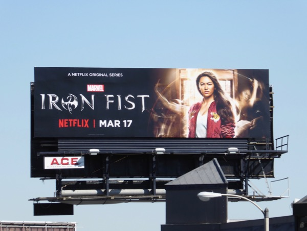 Colleen Wing Iron Fist TV billboard