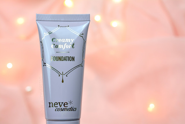 neve cosmetics creamy comfort fountation swatch, fondotinta creamy comfort neve cosmetics review, fondotinta creamy comfort neve cosmetics swatch