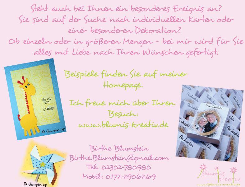 Blumis - kreativ Blog: Flyer