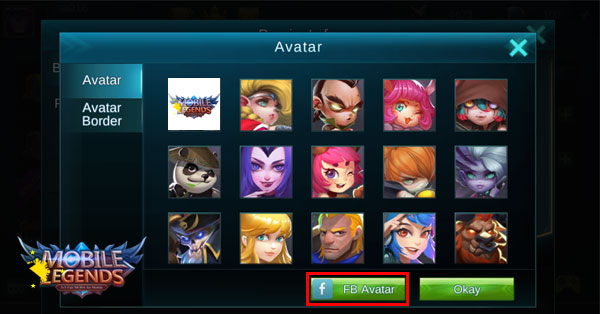 How to set Fb Avatar in Mobile Legends