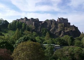 View of Edinburgh Castle from below, Edinburgh, Scotland