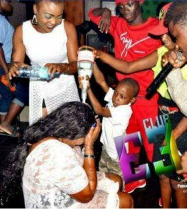 See the mother who took her little son to the club to celebrate his birthday