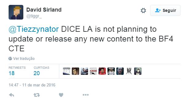 CTE de Battlefield 4 é encerrado
