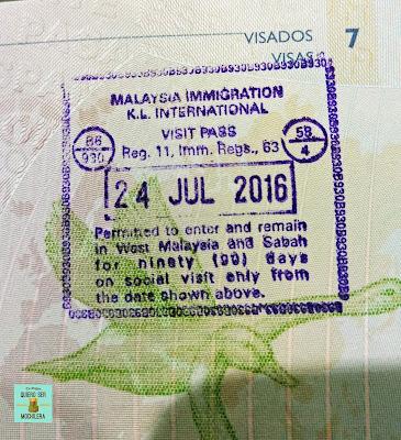 Visado para Malasia