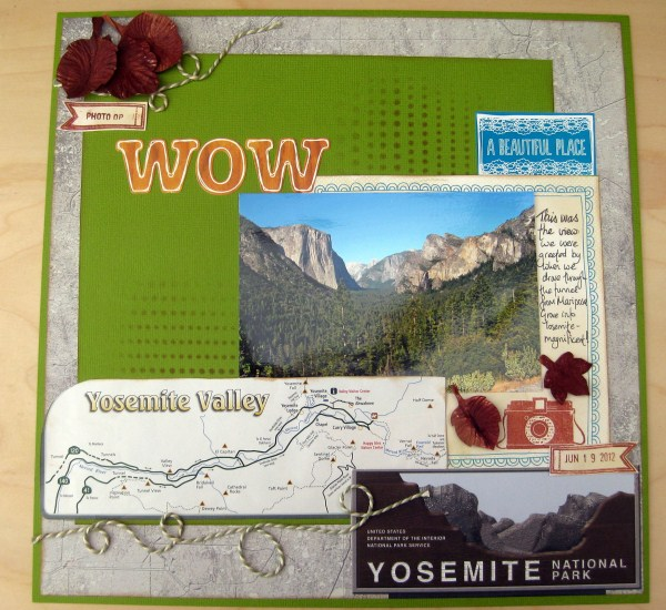 Yosemite Valley Floor Tour: Becky's Scrapbook Burblings: Two More California Layouts