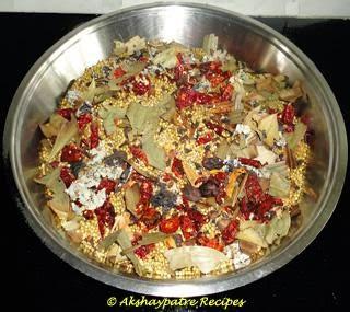 mixed the ingredients to make kala masala