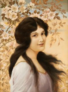 Alois Binder Девушка на ветру