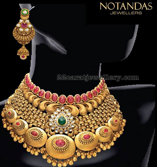 Bridal Necklace By Nootandas Jewellers