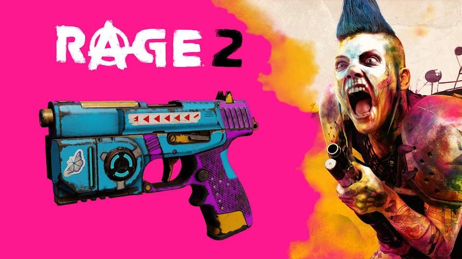 rage 2 post launch content vomit comet pistol skin 2019 bethesda