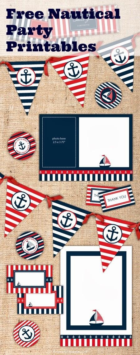 Free Printable Nautical Party Kit