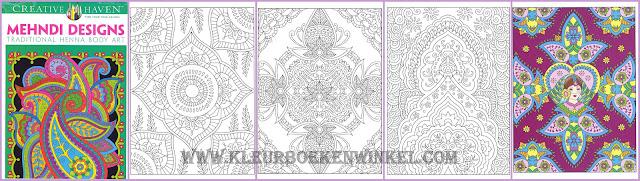 kleurboek mehndi designs