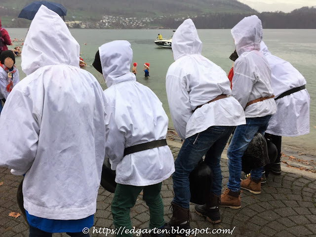 Treichelknaben am See - Merlischachen