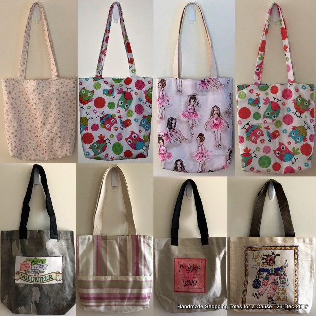Handmade Shopping Totes for a Cause