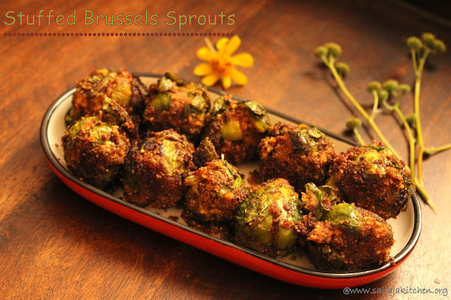 images of  Stuffed Brussels Sprouts / Stuffed Brussels Sprouts Sabzi / Masala Stuffed Brussels Sprouts