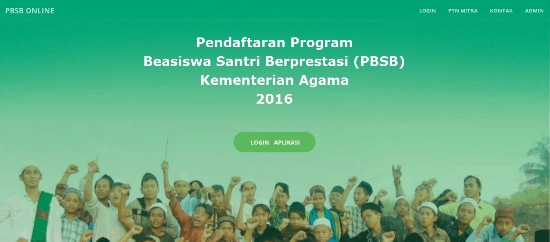 Pendaftaran PBSB 2016