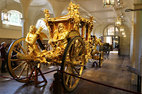 Gold State Coach at the Royal Mews, Buckingham Palace