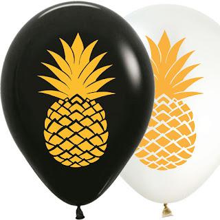 Латексные воздушные шарики с Ананасами