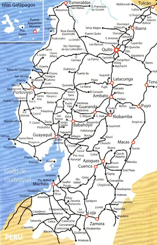 carreteras de Ecuador