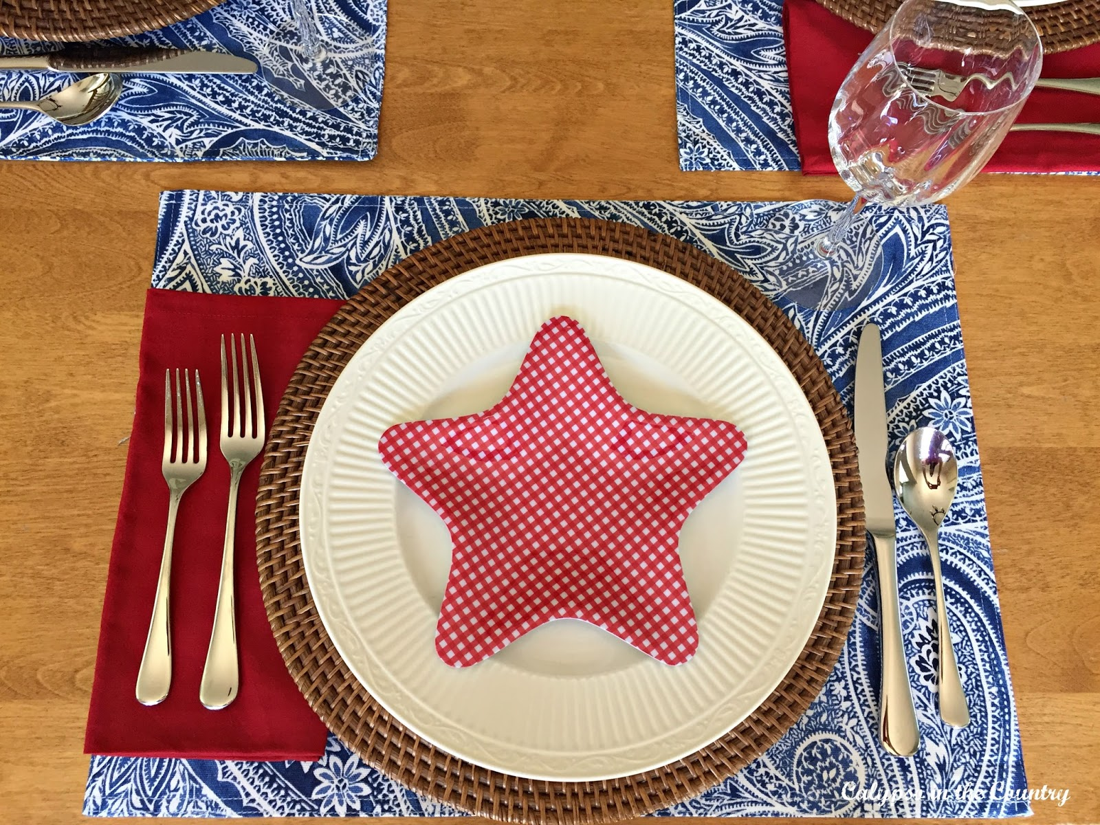 Patriotic Table Setting with Star Plate