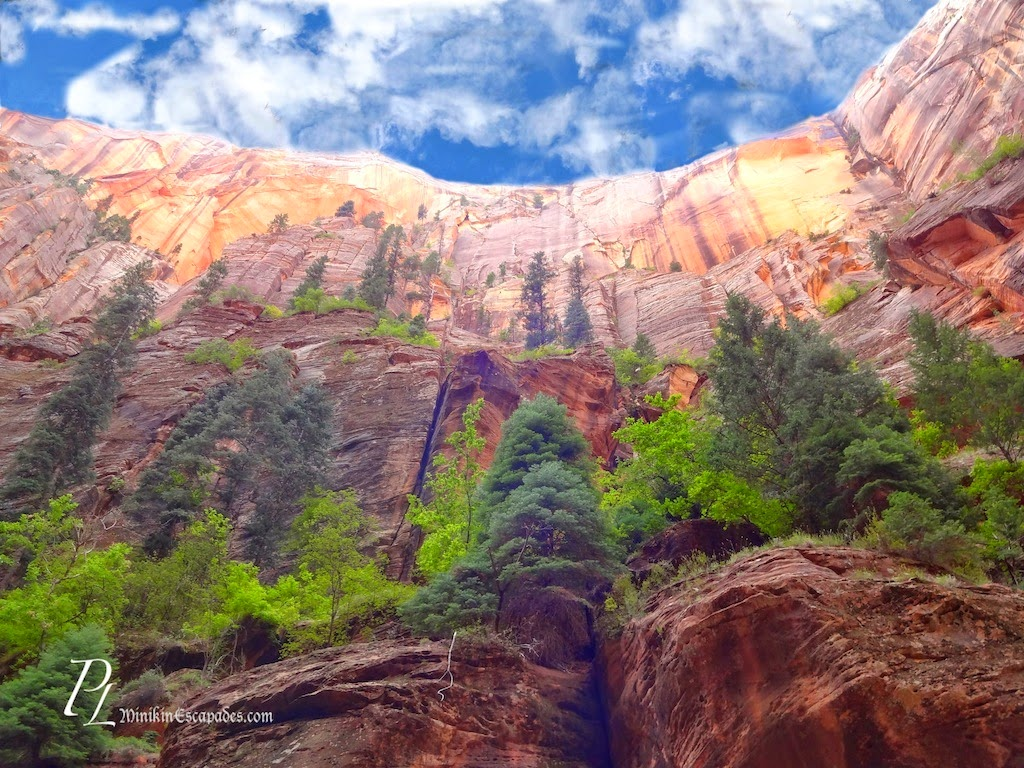 views while canyoning the narrows in Zion national park