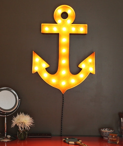 Marquee light anchor sign