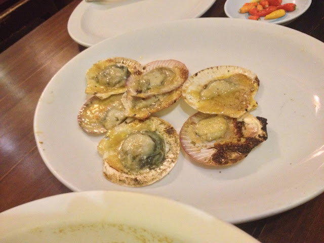 baked scallops at STK ta Bay