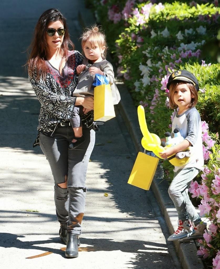 Celeb Diary: Kourtney Kardashian and her kids Mason and ...
