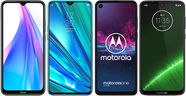 Xiaomi Redmi Note 8T vs Realme 5 Pro vs Motorola One Action vs Motorola Moto G7 Plus