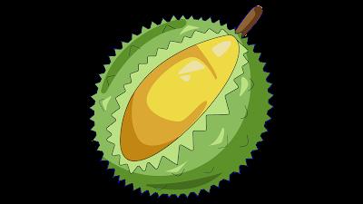 gambar clipart buah durian