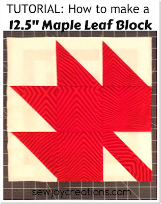 maple leaf block button