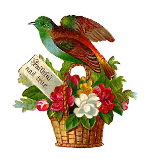 bird flower basket illustration crafting download