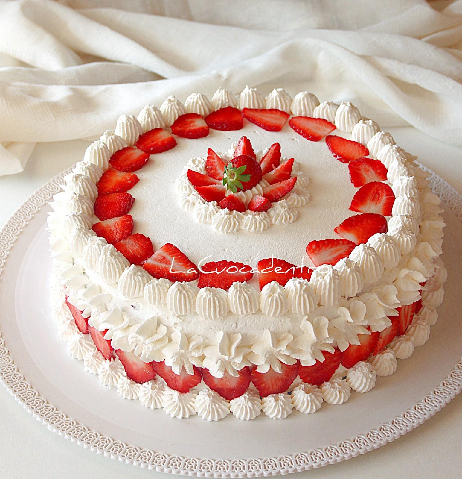 Torta Sospiro Alle Fragole La Cuoca Dentro