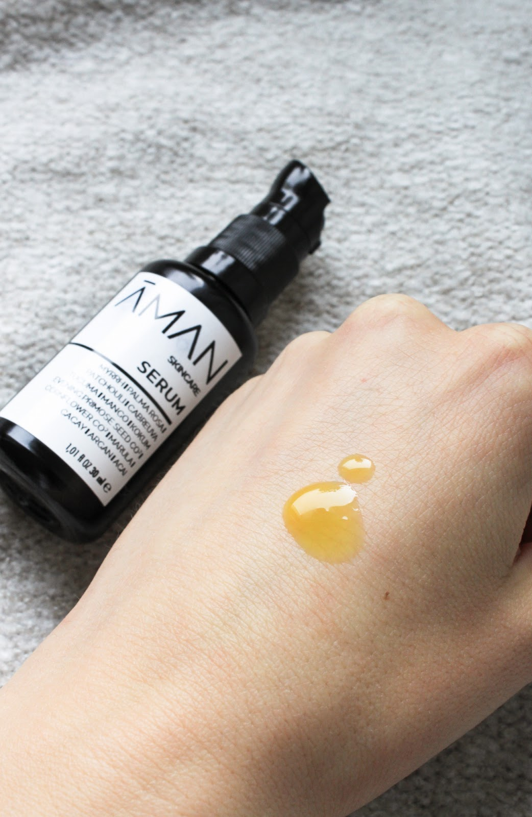 Emanufaktur Aman Skincare Serum. Liquid balm, brightening