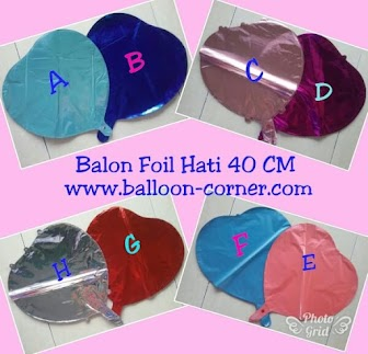 Balon Foil Hati / Foil Love (NEW COLOUR)