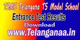 TSMS Telangana TS Model School 9th Class Entrance Test Results Download
