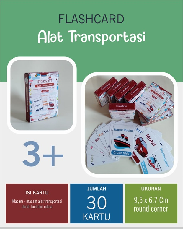 Flash Card Alat Transportasi