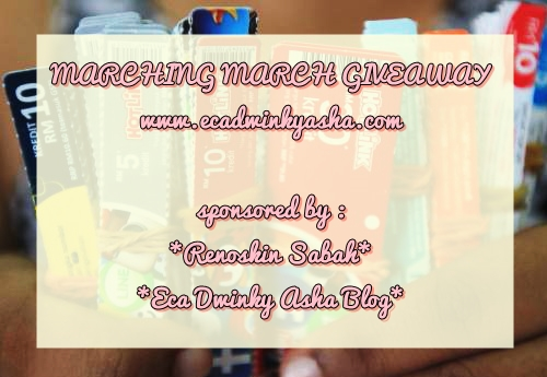 MARCHING MARCH GIVEAWAY