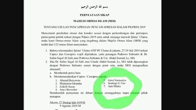 Sandiaga Masuk Salah Satu Nama yang Direkomendasi Majelis Ormas Islam