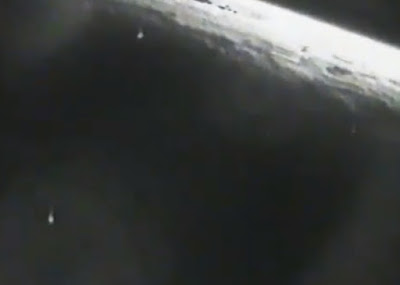 Multiple UFOs in the video with some shooting off in to outer space.