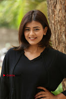 Actress Hebah Patel Stills in Black Mini Dress at Angel Movie Teaser Launch  0054.JPG