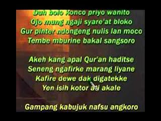 Teks Lirik Syiir Tanpo Waton