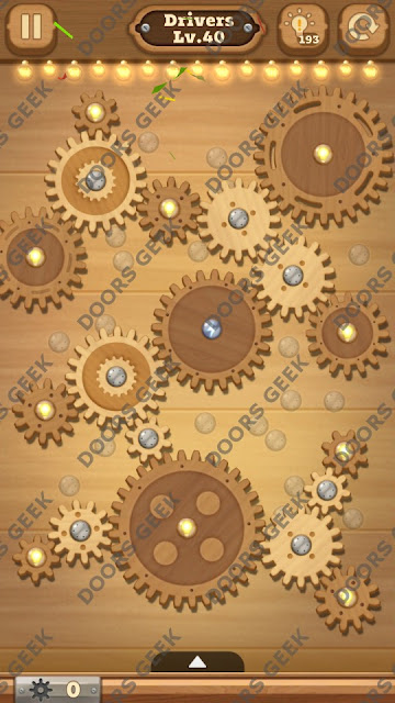 Fix it: Gear Puzzle [Drivers] Level 40 Solution, Cheats, Walkthrough for Android, iPhone, iPad and iPod